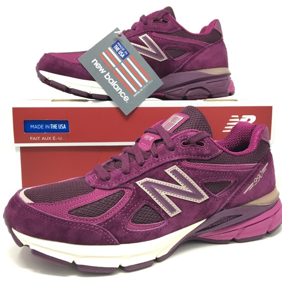 huge discount 8678c cff1c New Balance 990V4 Mulberry Womens Running Shoes SZ NWT